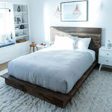 beautiful reclaimed wood bed