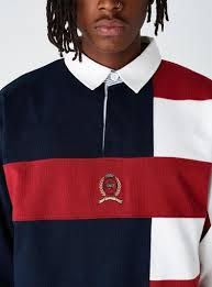 kith x tommy hilfiger colour block rugby polo men s fashion clothes tops on carou