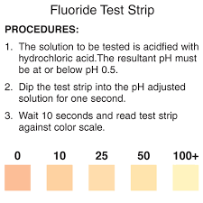 Fluoride Chart Fluoride Test Strip Precision Laboratories