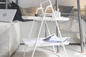bedroom night stands. VIGGJA Tray Stand, White Bedroom Night Stands D
