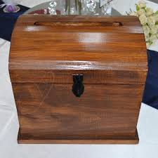 wooden treasure chest wishing well stained timber take a closer look on thumbnails to enlarge