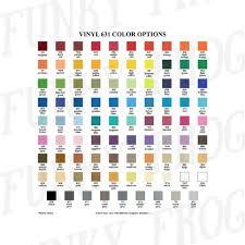 Oracal 751 Color Chart Pdf Download Vinyl Color Options Chart Oracal 631 651 751