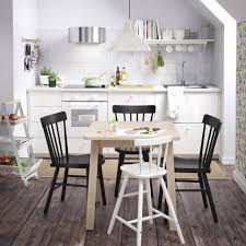 image of dining room furniture ideas dining table chairs ikea within black and white chairs
