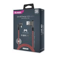 Кабель <b>X</b>-<b>Game Neo</b> USB 2.0 - Lightning, 1.2м, 2.1A, игровой, <b>OLMIO</b>