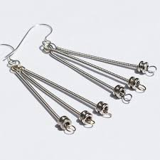 guitar string jewelry silver ball end guitar string earrings