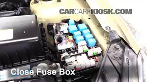 blown fuse check 2006 2011 kia rio 2007 kia rio 1 6l 4 cyl 2007 Kia Rio Fuse Box Diagram 6 replace cover secure the cover and test component 2003 Kia Rio Interior