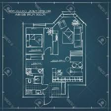 Architectural design blueprint Project Photostock Vector Architectural Blueprint Floor Plan Studio Apartment With One Bedroom Dreamstimecom Photostock Vector Architecture And Architect Design Profession And