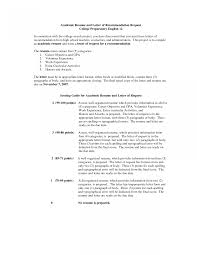 How To Write Resume For Recommendation Letters Jobrence Letter