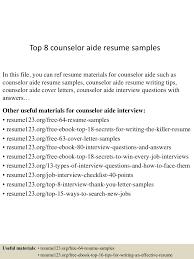 Counselor Aide Sample Resume Top224counseloraideresumesamples224lva224app622492thumbnail24jpgcb=224243722422422496224 11