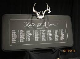 Antler Seating Chart Deer Wedding Deer Wedding Wedding