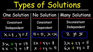 one solution no solution or infinitely many solutions consistent inconsistent systems