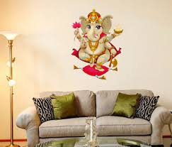 Small Picture 57000253 Wall Stickers Shree Ganesha Design For Pooja Room eBay