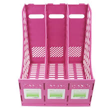 Pink Magazine Holder Amazon Clobeau Heavy Duty Four Sections File Rack Paper 72