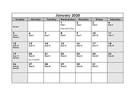 Printable 2020 Julian Date Calendar Calendarlabs