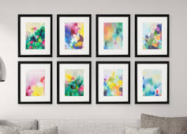 download these 8x gorgeous fre 8x10 printables for your gallery wall by corinne melanie on wall picture arts with gallery wall free printables download all 8 colourful abstract art