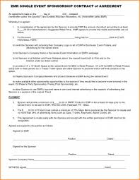 Party Proposal Template Enchanting Sponsorship Agreement Template Free Download Elegant Event Planning