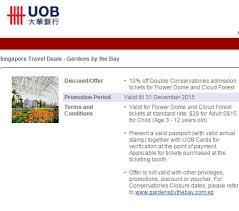 credit card deals gardens by the bay