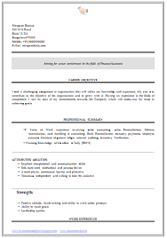 Fresher Resume samples Than       CV Formats For Free Download