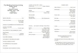 Templates For Church Programs Wedding Bulletin Magdalene Project Org