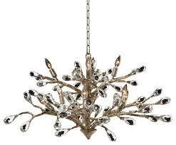 elmsley modern brushed gold branch crystal drop chandelier