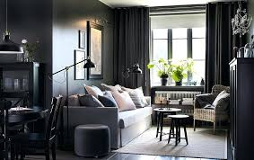 ikea living room sets set small open plan dark grey and