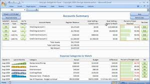 Excel. Budget Worksheet Excel: Monthly Personal Budget Template For ...