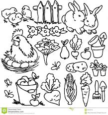 Coloring Book Cartoon Farm Animals Stock Illustration Kid Coloring Apps L