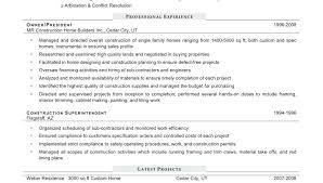 Sample Construction Resume Construction Sample Resume For Entry ...