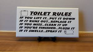 Bathroom Ideas Funny Bathroom Signs For Home On White Toilet