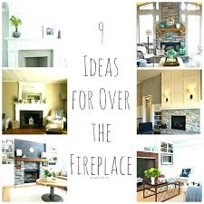living room fireplace decor over ideas above pertaining to 4