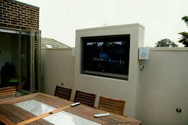 outdoor lcd tv enclosure diy designs wall mount motorized lift cabinet outstanding cabinets designor home stainless