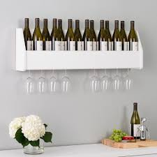 Floating Wine Rack White   Prepac : Target