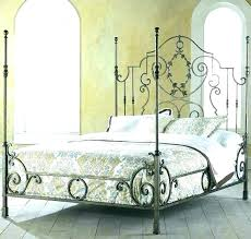 Wrought Iron Canopy Bed Frame Queen Frames King For Sale Decorating ...