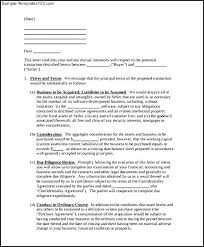 purchase letter of intent templates