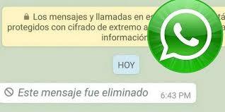 Resultado de imagen para truco para leer los mensajes eliminados en WhatsApp