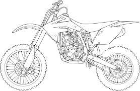 Coloriage Moto Cross Imprimer Sur Coloriages Toute Dessin De