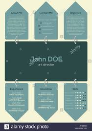 Modern Resume Cv Curriculum Vitae Template Design With Chain And
