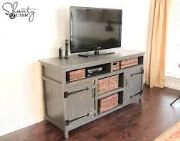 diy corner tv stands rustic media center from shanty 2 chic a distressed gray stand diy diy corner tv stands