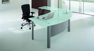 executive glass office desk. #3 L-shape Glass Top Executive Desk Office