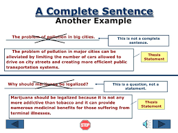 thesis statement ppt 9