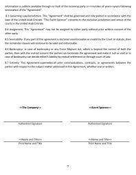 sponsorship agreement ne0285 event sponsorship agreement template english namozaj
