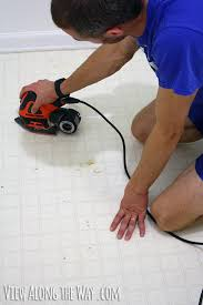 sanding vinyl flooring