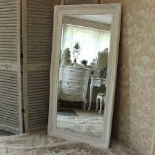 extra large white ornate mirror