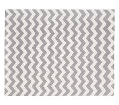 extremely gray chevron rug wool 8x10 ft pottery barn kids