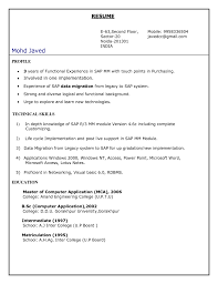 Sap Abap Resume 3 Years Experience Resume For Study