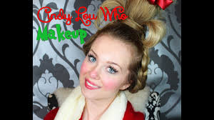 cindy lou who the grinch who stole makeup tutorial