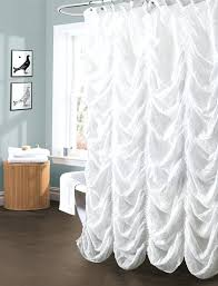 white ruffle shower curtain. Ruffle Shower Curtain A Touch Of Romance For Your Bathroom Ivory Modern . Blue White