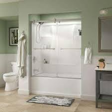 stylish bathtub glass shower doors bathtub doors bathtubs the home depot