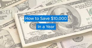 Save 10000 In A Year Chart How To Save 10 000 In A Year Vital Dollar