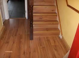 allure vinyl plank flooring installation on stairs floor